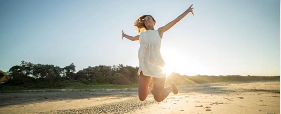 girl jumping loan approval